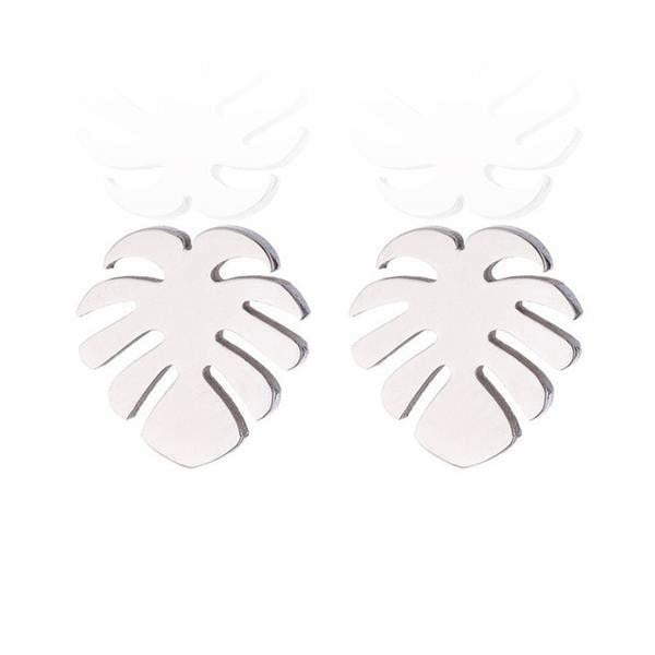 lushcove - Tropical Palm Leaf Stud Earrings