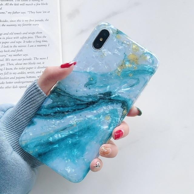 lushcove - Glitter Marble iPhone Case