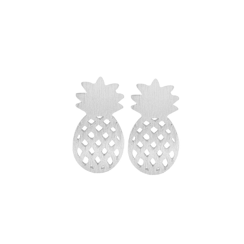 lushcove - Brushed Pineapple Stud Earrings