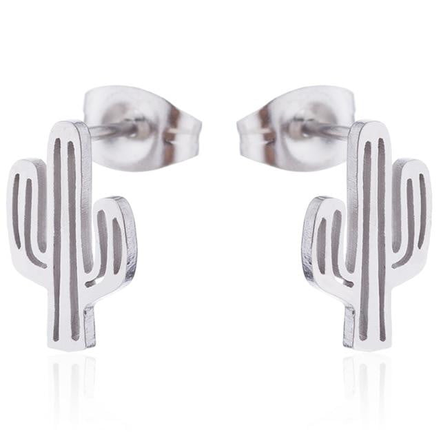 lushcove - Cactus Stainless Steel Stud Earring