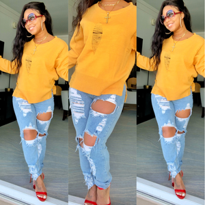 Mustard Stylz sweater top