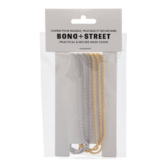 Bondstreet Mask Chains 2 Pack - Gold & Silver