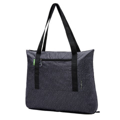 Travelon Clean Antimicrobial Packable Tote Dark Grey Large Front Three Quarter View