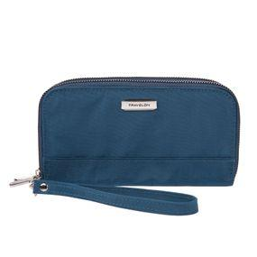RFID Blocking Double Zip Clutch Wallet