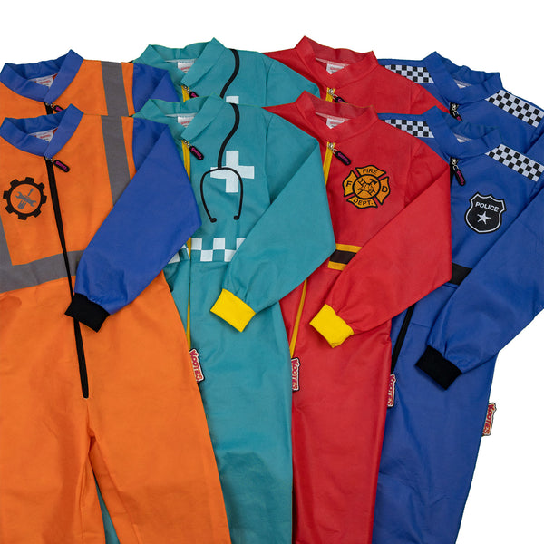 Mixed Dress up Coveralls x 8 Pack