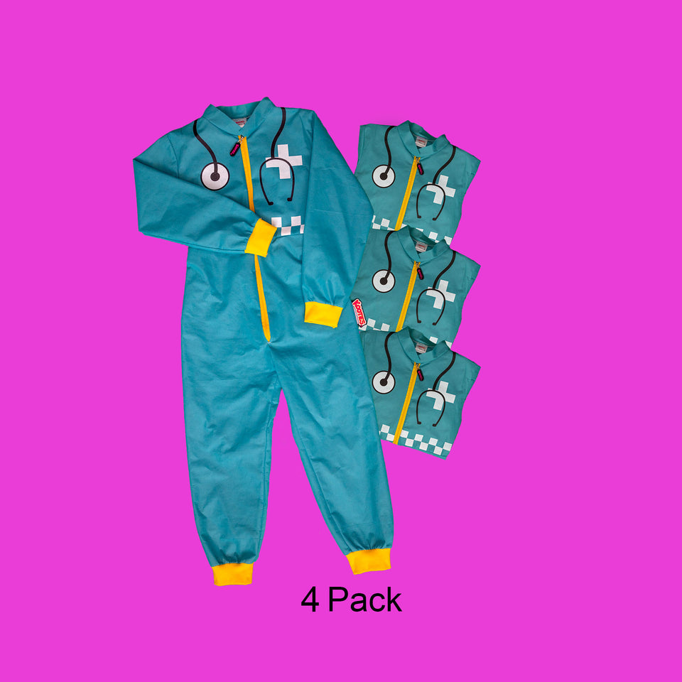 Party Pack of 4 Paramedic Coveralls