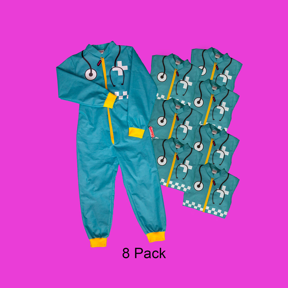 Party Pack of 8 Paramedic Coveralls