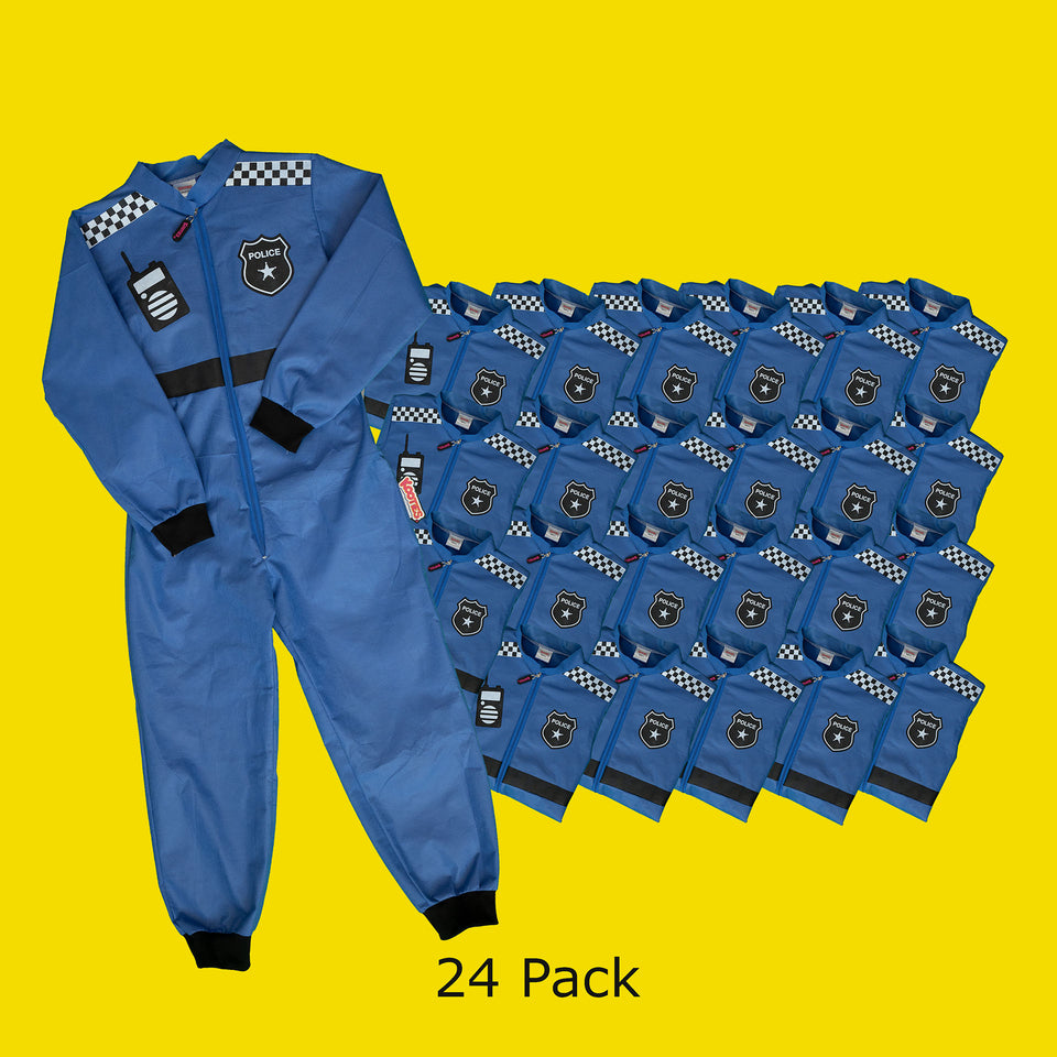 Party Pack of 24 Police Officer Coveralls