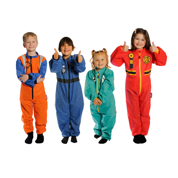 Mixed Dress up Coveralls x 4 Pack