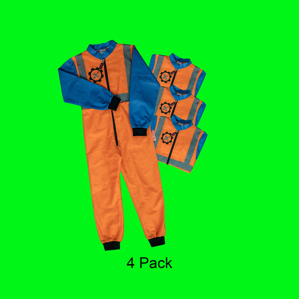 Construction Worker Coverall x 4