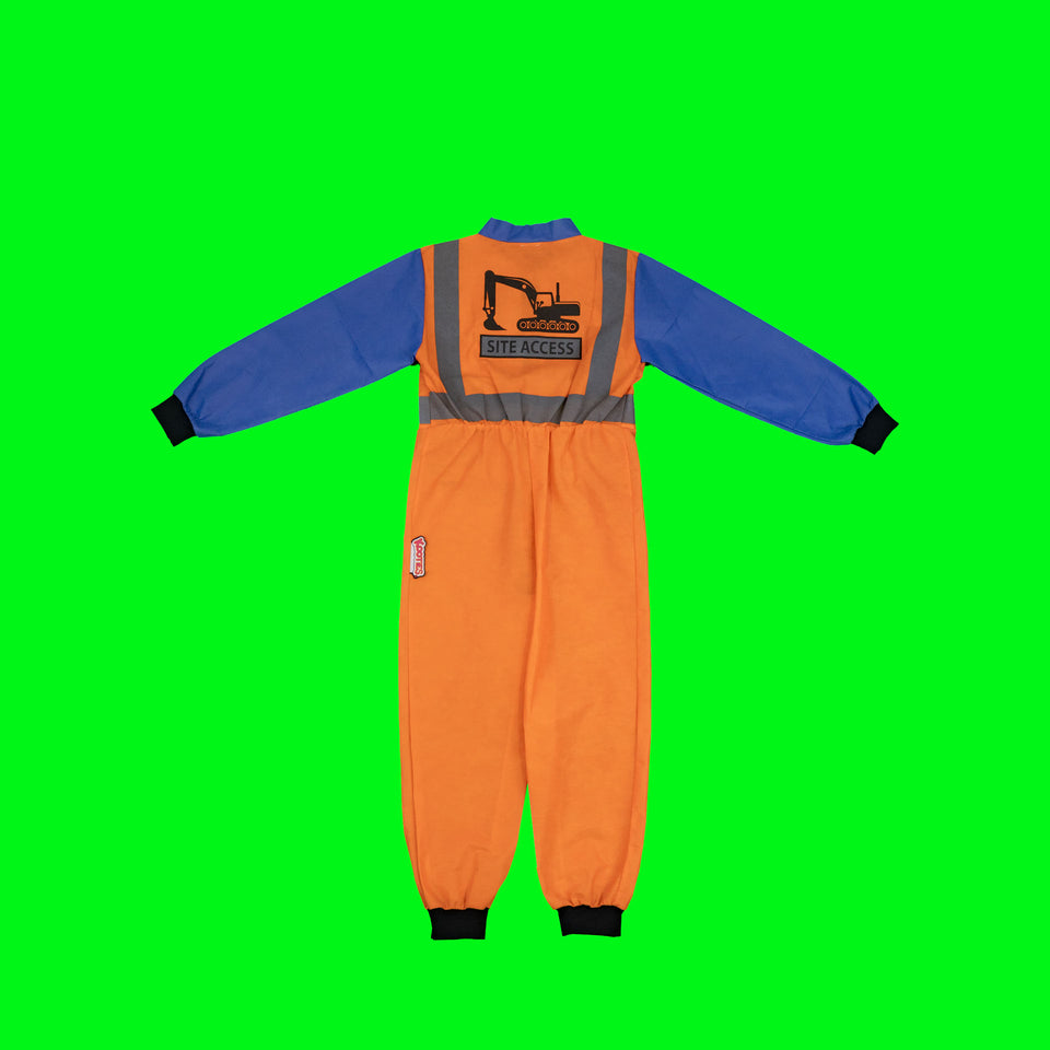 Party Pack of 8 Construction Worker Coveralls