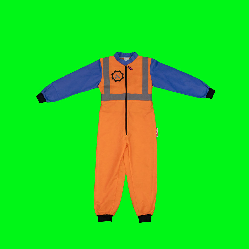 Party Pack of 16 Construction Worker Coveralls