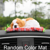 Car Ornament Lovely Plush Sleeping puppy Dog Automotive Interior Decoration