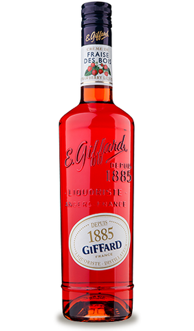 Giffard Strawberry Liqueur (Wild - Fraise Bios) Creme de Fruits : 700 ml