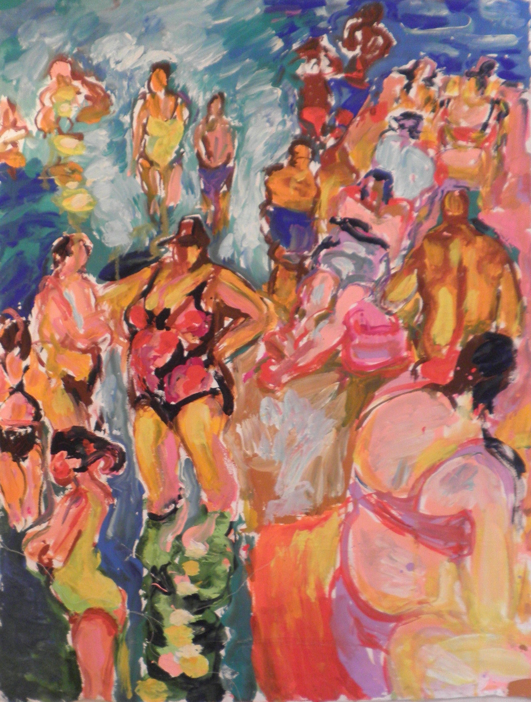 Bathers- Crowds at the Beach