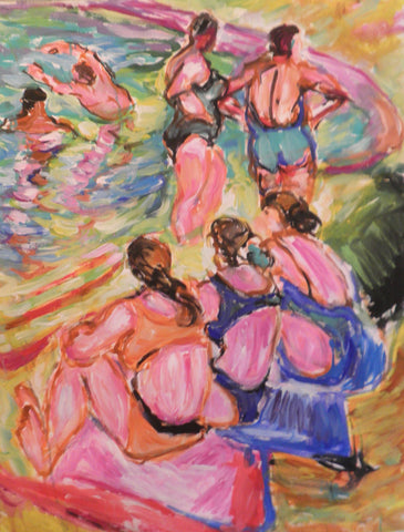 Bathers- Girls Gossiping