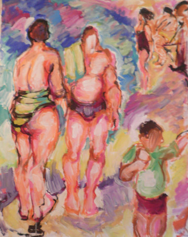 Bathers- Parents and the Boy
