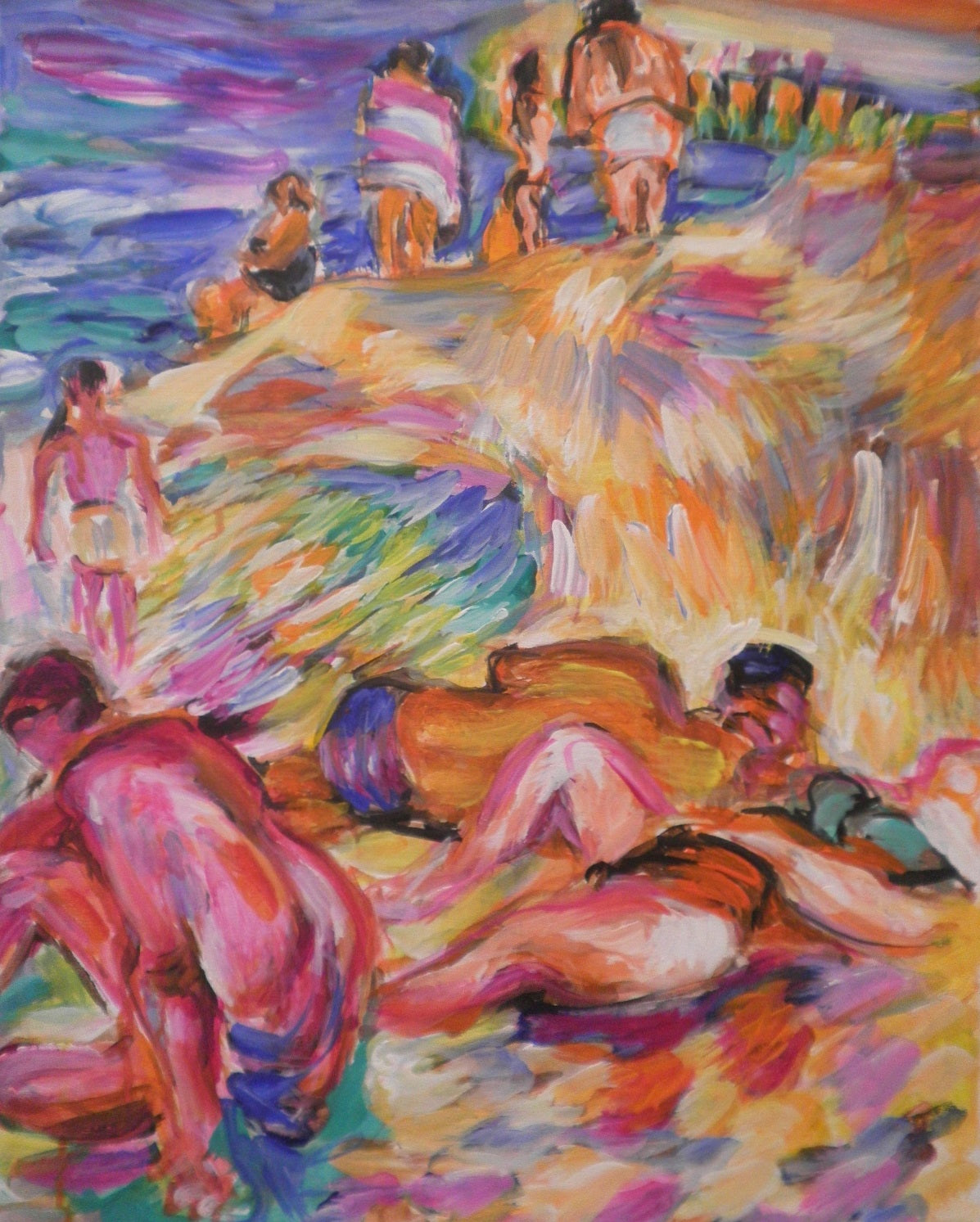 Relaxed Bathers on a Less Busy Day