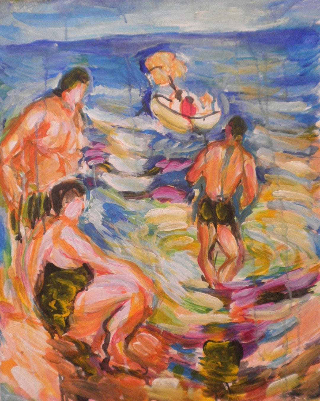 Bathers Watching Couple Sail Out
