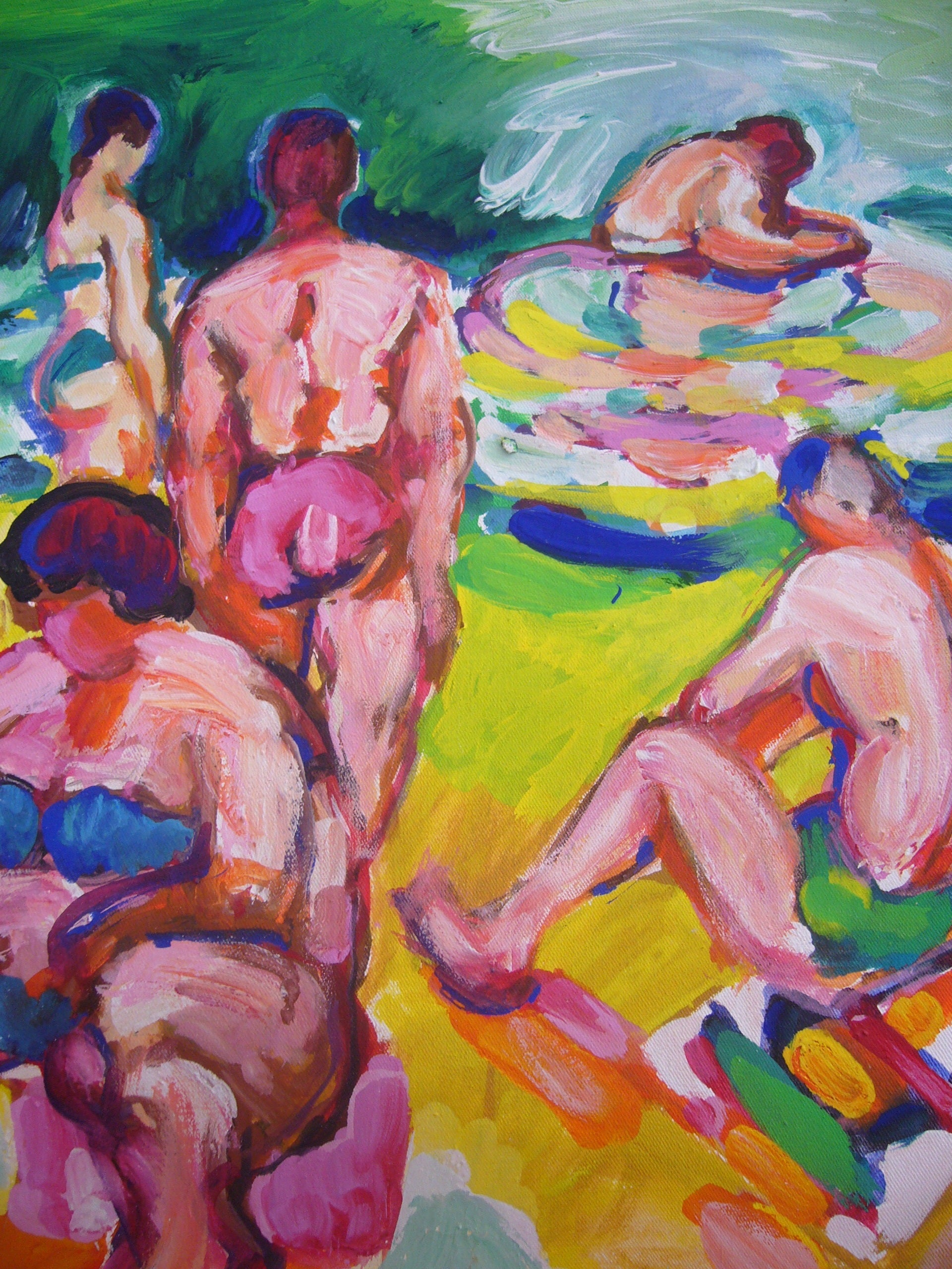 Bathers and The Green Sea