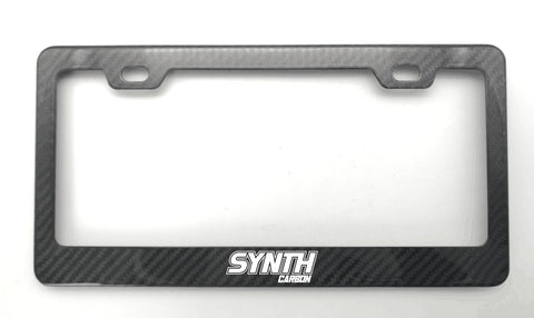 Synth Carbon Fiber License Plate Frame