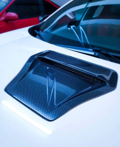 Synth Carbon Carbon Fiber Hood Scoop For FK8 Type R