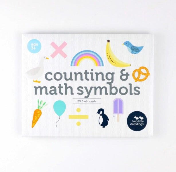 Counting and Math Symbols Flash Cards