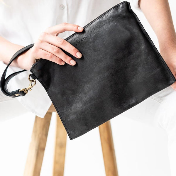 Large Flat Pouch- Black
