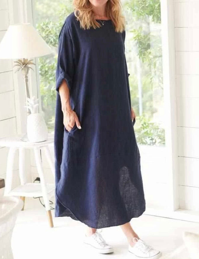The Malle Dress- Navy