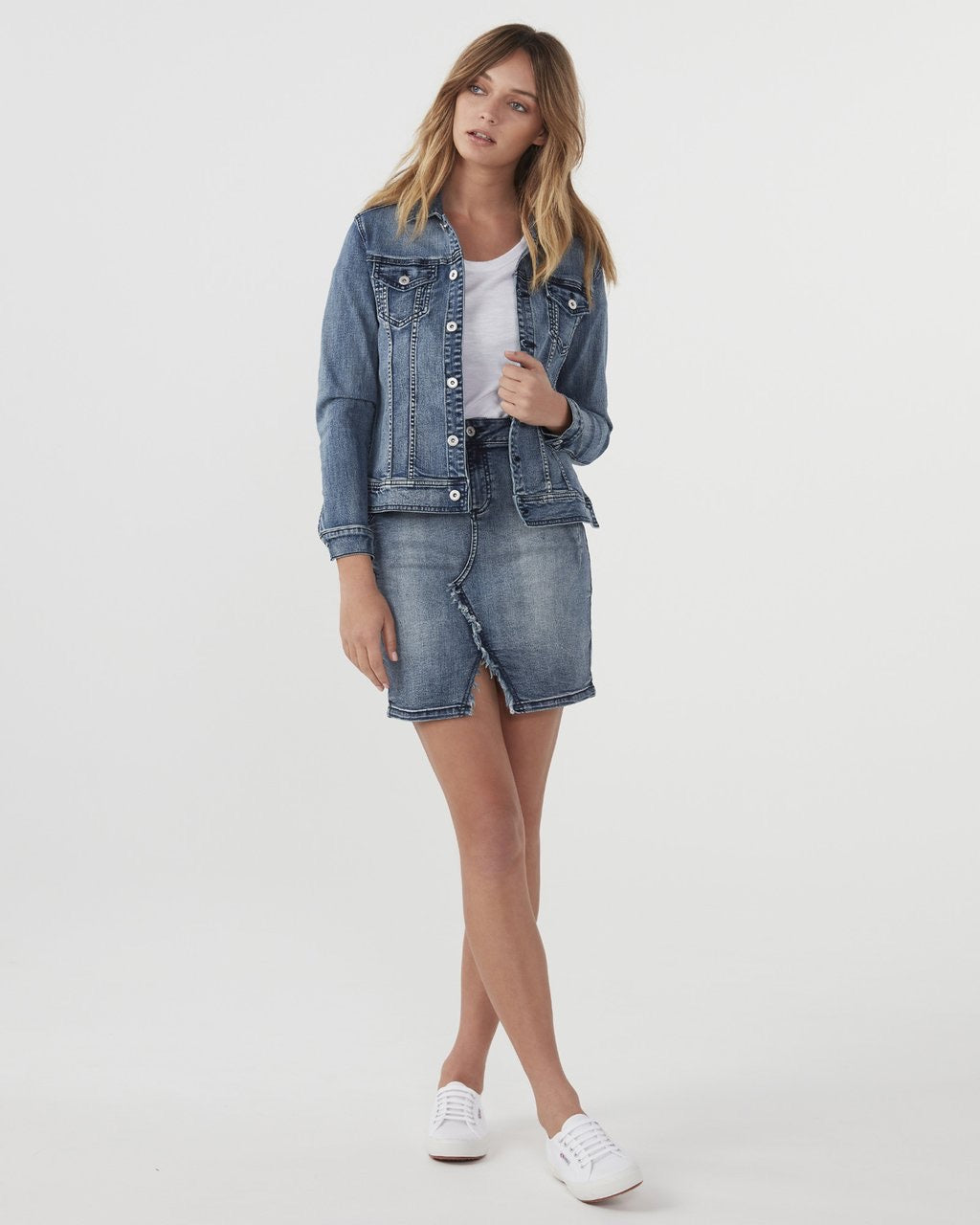 Jac+Mooki Stonewash Denim Jacket