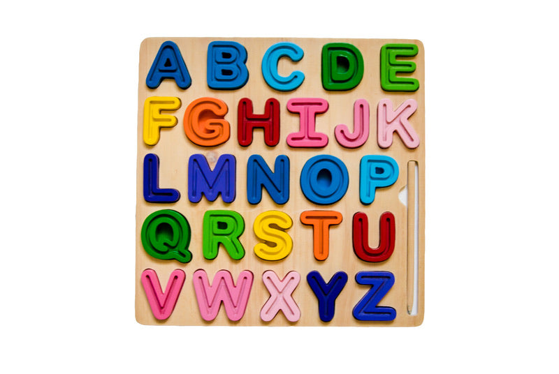 Uppercase ABC Chunky and Tracing Puzzle