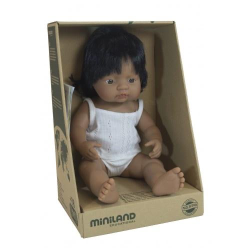 Miniland Hispanic Baby Girl