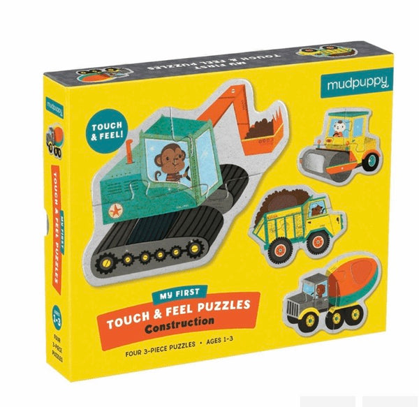 Mud Puppy Touch N Feel Construction Puzzle