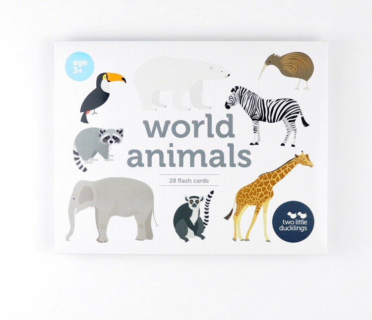 World Animals Flash Cards