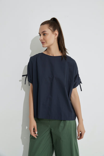 Draw Cord Sleeve Top