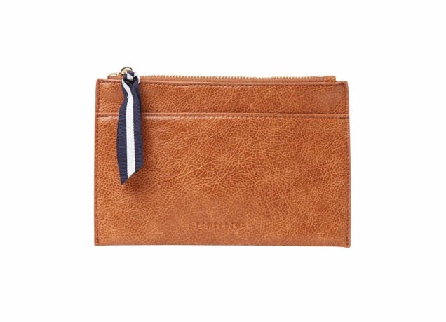 New York Coin Purse - Tan Pebble