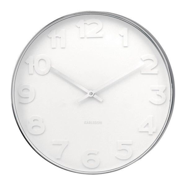 KARLSSON MR WHITE NUMBERS WALL CLOCK