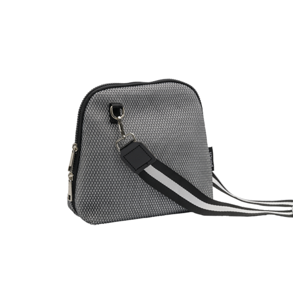 Mesh Cross Body Bag- Grey