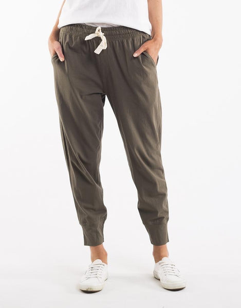 Elm Wash Out Lounge Pant-Khaki
