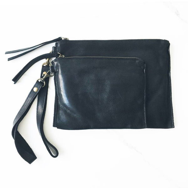 JuJu and Co Small Black Flat Pouch