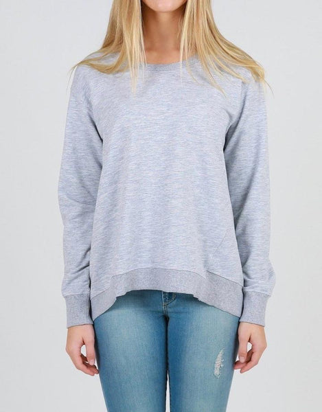 Newhaven Sweater- Grey Marle