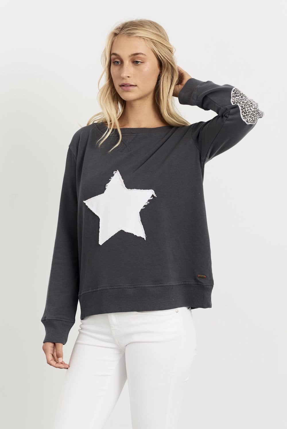 Leopard Star Windy-Charcoal