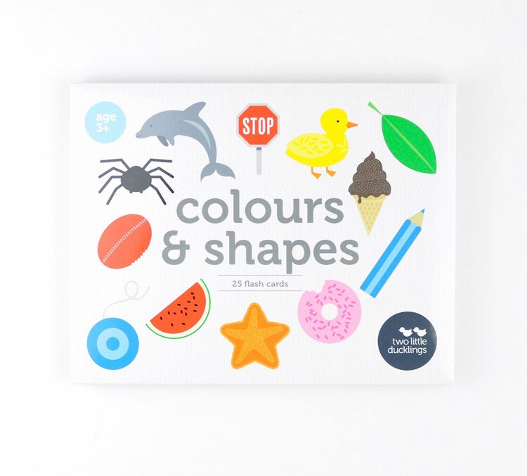 Colours and Shapes Flash Cards