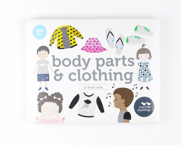 Body Parts and Clothing Flash Cards