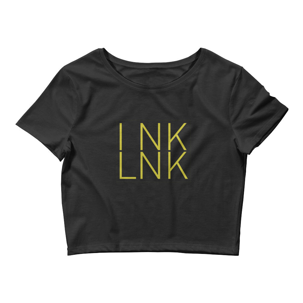 Women's InkLnk Black Crop Tee