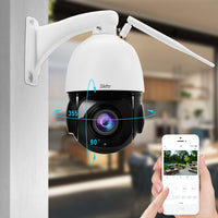 5MP PTZ Wireless Security Outdoor Camera 20X Optical Zoom High Speed IP Camera Built-in SD Card Slot IP66 Waterproof for Surveillance