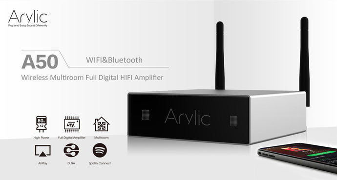 Arylic A50 Wireless Amplifier Firmware Updated to the Latest Version