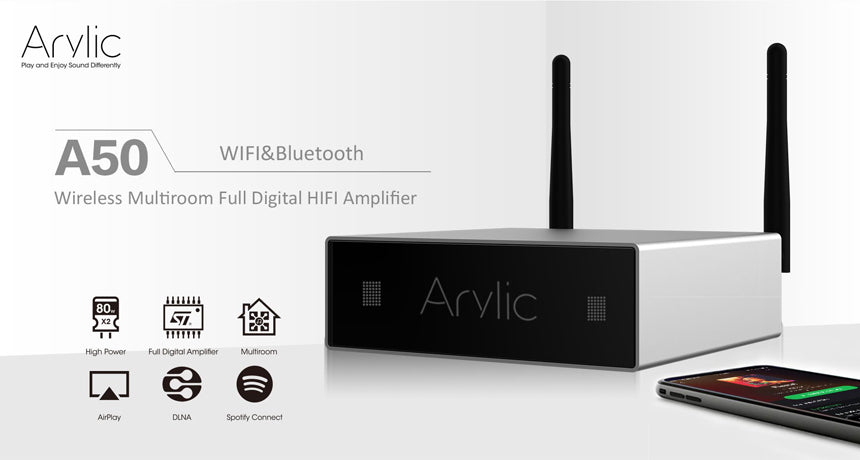 Arylic A50 AMP firmware updated to the latest version