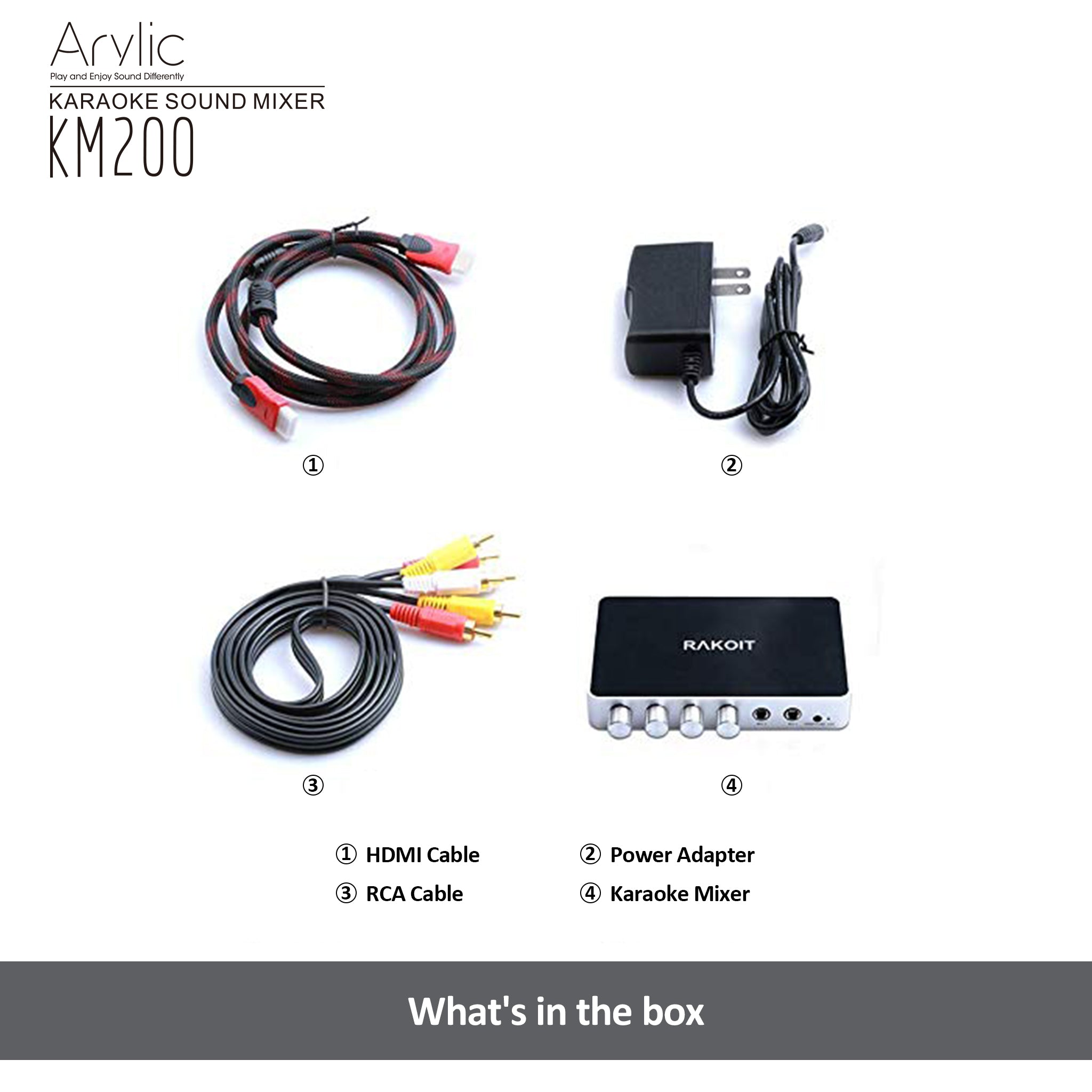 arylic hdmi karaoke mixer accessories