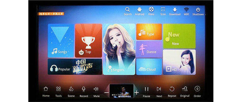 home karaoke system with touch screen